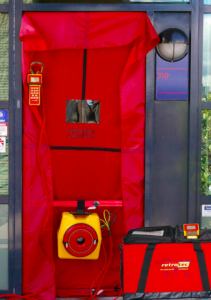 blower door test for air infiltration