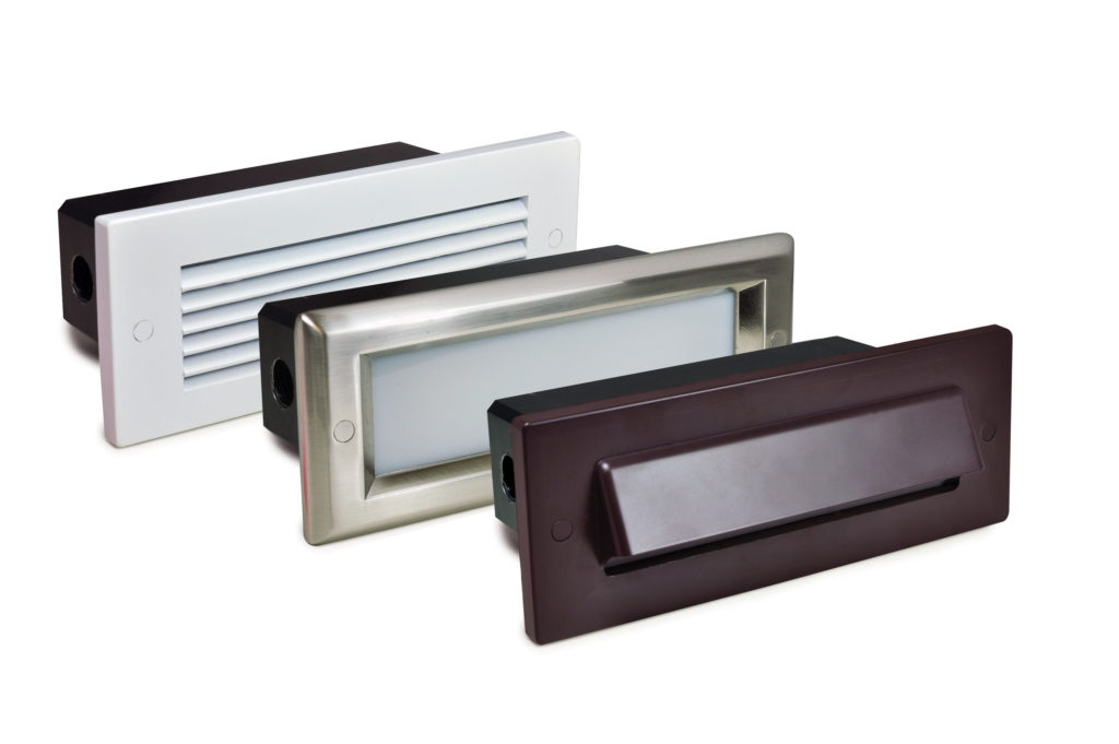 Led Brick Step Lights Offer Various Face Plates Retrofit