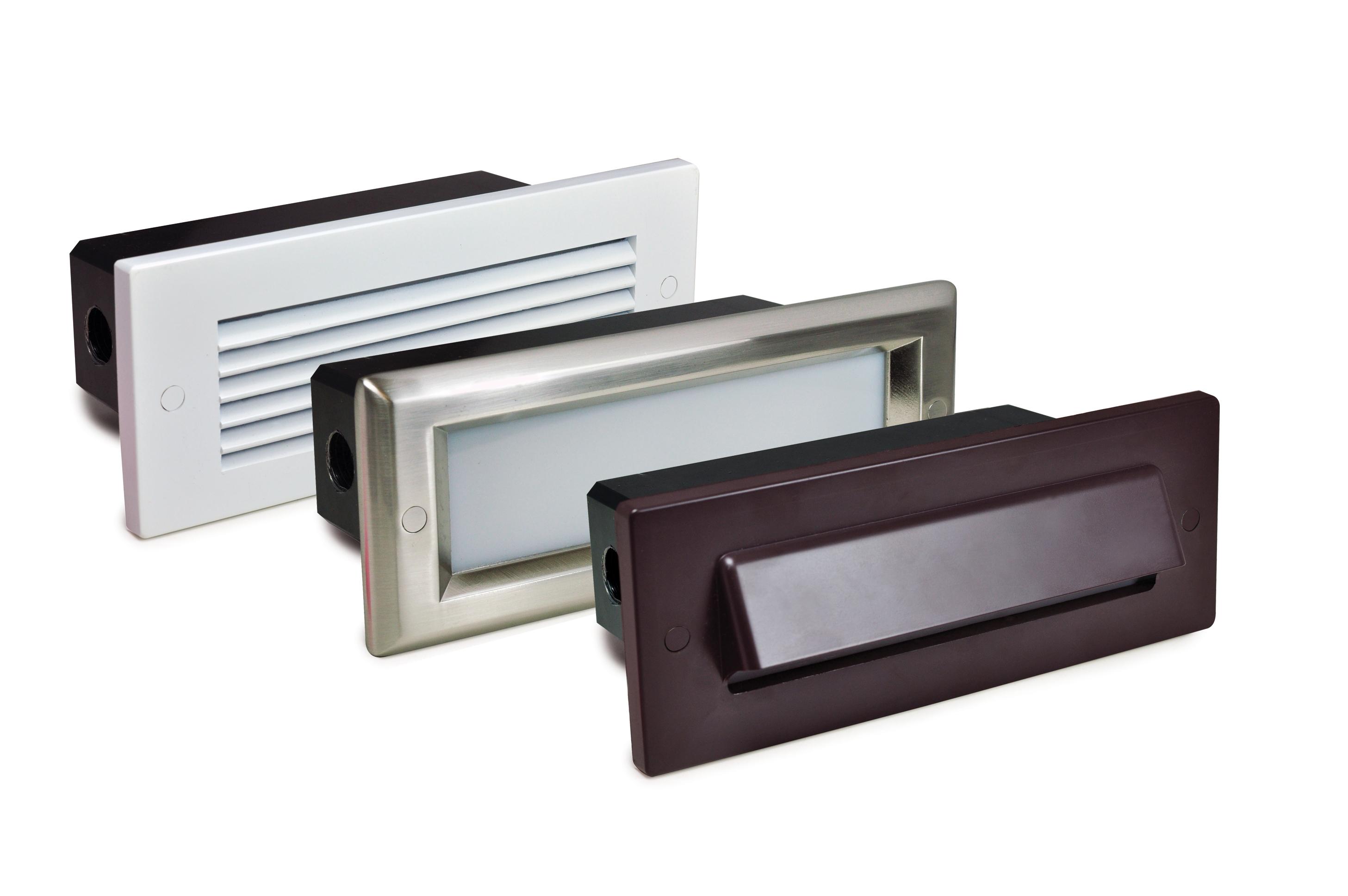Led Brick Step Lights Offer Various Face Plates Retrofit