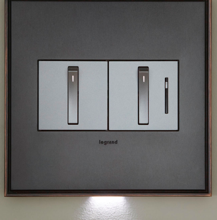 Light switches feature unique design retrofit for Unique switches