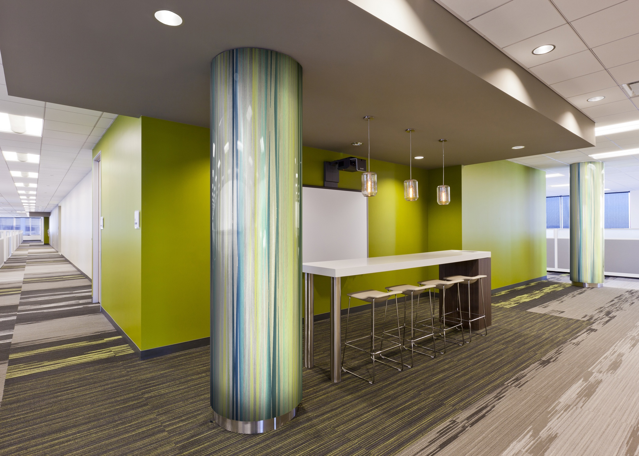 Aluminum Panels Enhance Interior Settings Retrofit