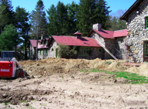 The Bradley Palmer Mansion, Topsfield, Mass., before becoming part of the Historic Curatorship Program. Photo: Massachusetts Department of Conservation and Recreation