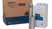 SubDrive SolarPAK, a complete, one-box, system solution that provides the pump components needed to build a solar powered water well system