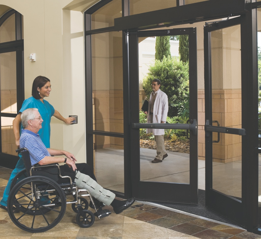 Automatic Door System Offers Access Without Hands Retrofit