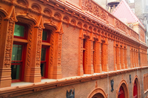 The scope of work included documentation and assessment of each individual terra-cotta units and cast iron parts on the building.