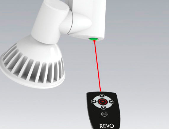 Motorized Track Head Can Be Adjusted Via Remote Control