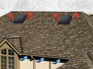 Solar roof vent offers increased airflow retrofit for How to improve airflow in vents