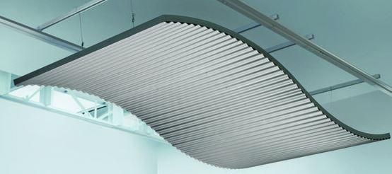 Industrial Look Corrugated Ceiling Panels Retrofit
