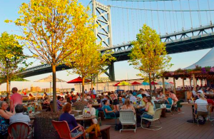 Morgan's Pier: As the name suggests, this seasonal spot overlooks the Delaware River and Benjamin Franklin Bridge in Philadelphia.