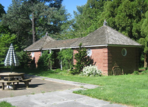 Before: The restoration and renovation of this early 20th century pool house provides public toilet facilities in support of outside activities at the Buena Vista Conference Center in New Castle, Del.
