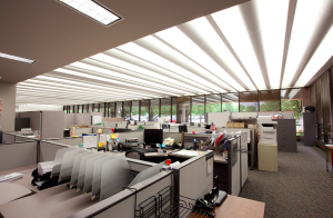 At its 650,000-square-foot administrative facility in St. Louis, more than 7,000 old T12 fixtures consuming nearly 5.1 million kWh a year were replaced with 13,000 GE F28 T8 linear fluorescent lamps.