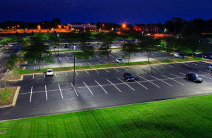 MetLife upgraded to GE's Evolve LED outdoor lighting in parking lots at 10 office locations.