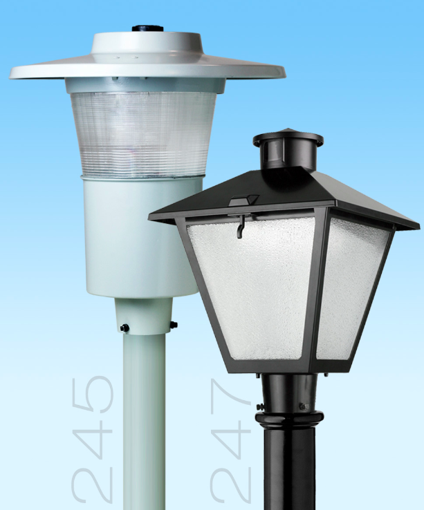 American Electric Lighting Products: Post Top Decorative Luminaires Now Available In LED