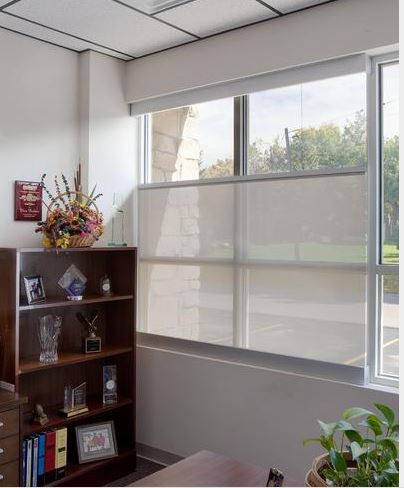Window shades roll down instead of up retrofit for Motorized roll up shades