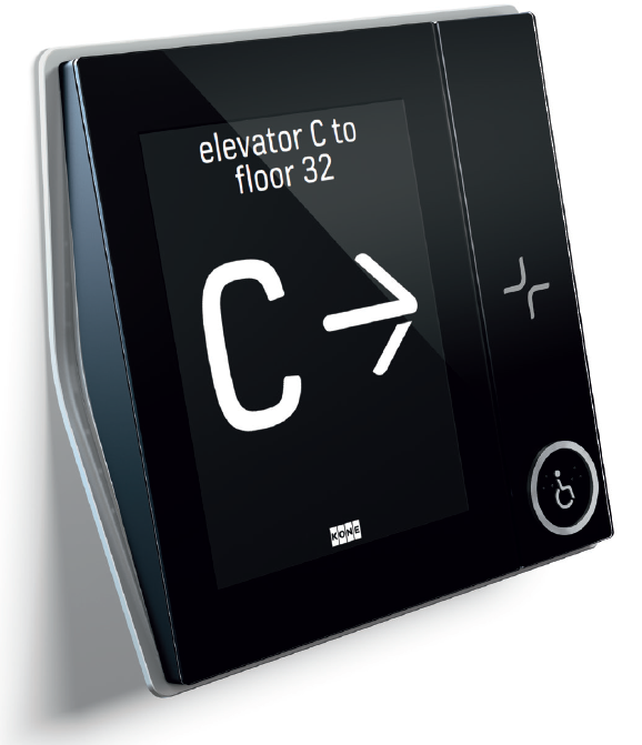 Elevator Intuitive Touchscreen Operating Panel For