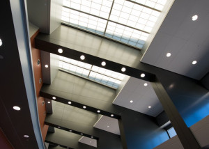 When it came time to upgrade South Placer County Santucci Justice Center's lighting system to LED, it was important to maintain the clean and modern aesthetic originally envisioned and delivered by the architects.