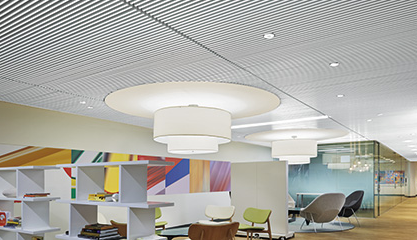High Quality Armstrong Ceiling Systems Has Added A White Painted Finish To Its Line Of  WoodWorks Grille Ceiling