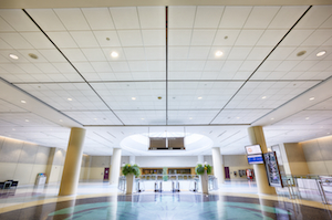 The Metro Toronto Convention Centre sought replacement ceiling panels that offered a modern look and modern performance, and would support its pursuit of LEED certification.