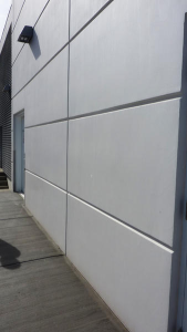 Dryvit Systems Inc.'s Finesse finish is trowel-applied and resembles precast concrete.