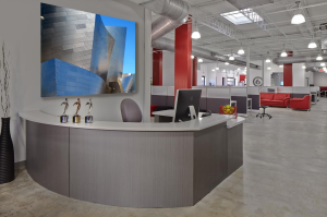 Scott Contracting completely renovated the shell of the 13,000-square-foot building. The team created extensive conference rooms, collaborative areas, spacious offices and open work stations.
