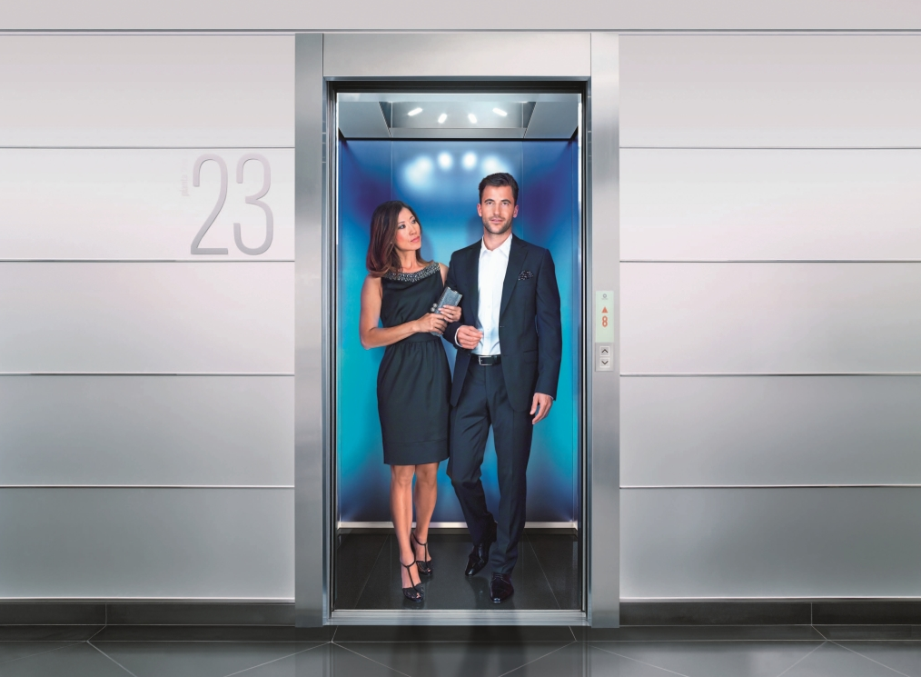 Machine Room Less Traction Elevator Offers Destination