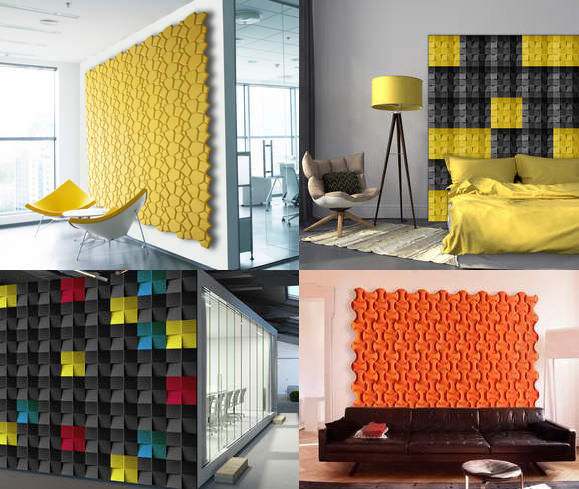 Cork wall design product brings dimension depth and for Sustainable interior design products
