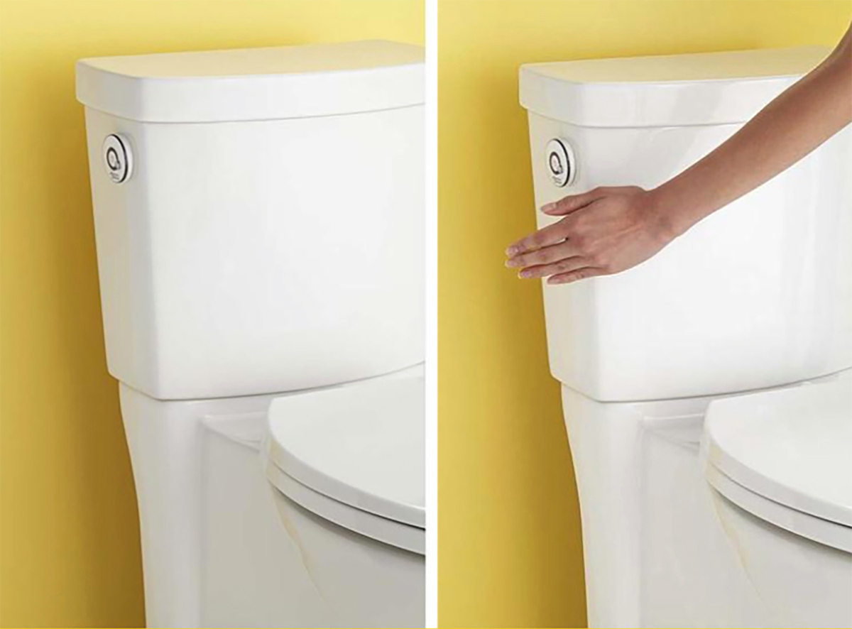 High Efficiency Toilet Features Touchless Flush Sensor