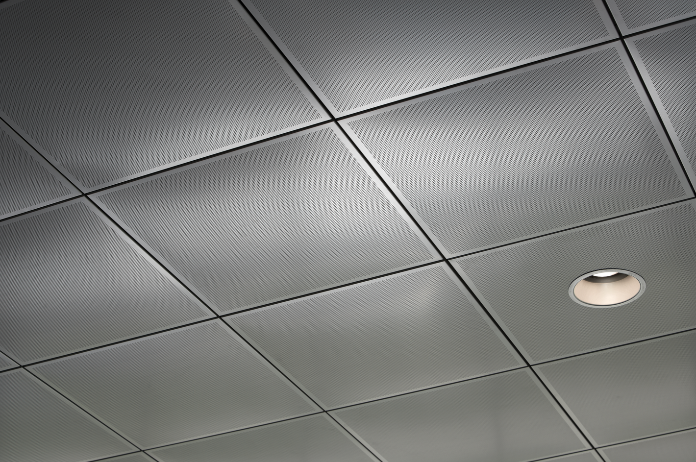 Clip In Metal Ceiling Panels Integrate With And Conceal Suspension