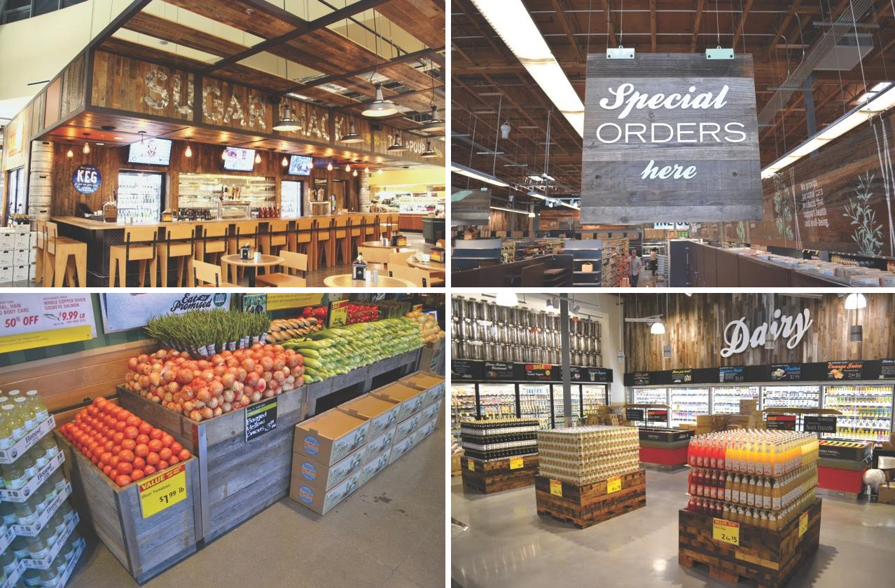 Viridian Reclaimed Wood introduces a line of prefabricated, customizable  fixtures for grocery and specialty retailers - Prefabricated, Customizable Fixtures Are Made From Reclaimed Wood