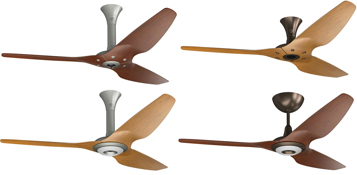 ceiling fans are available in two new hardware finishes. Black Bedroom Furniture Sets. Home Design Ideas