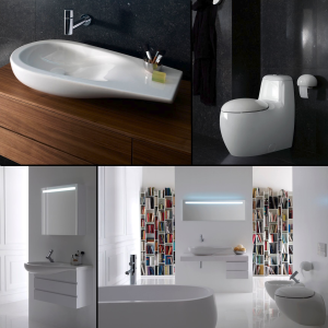 LAUFEN has introduced three complementary ILBAGNOALESSI One bathroom accessories made from revolutionary SaphirKeramik ceramic.
