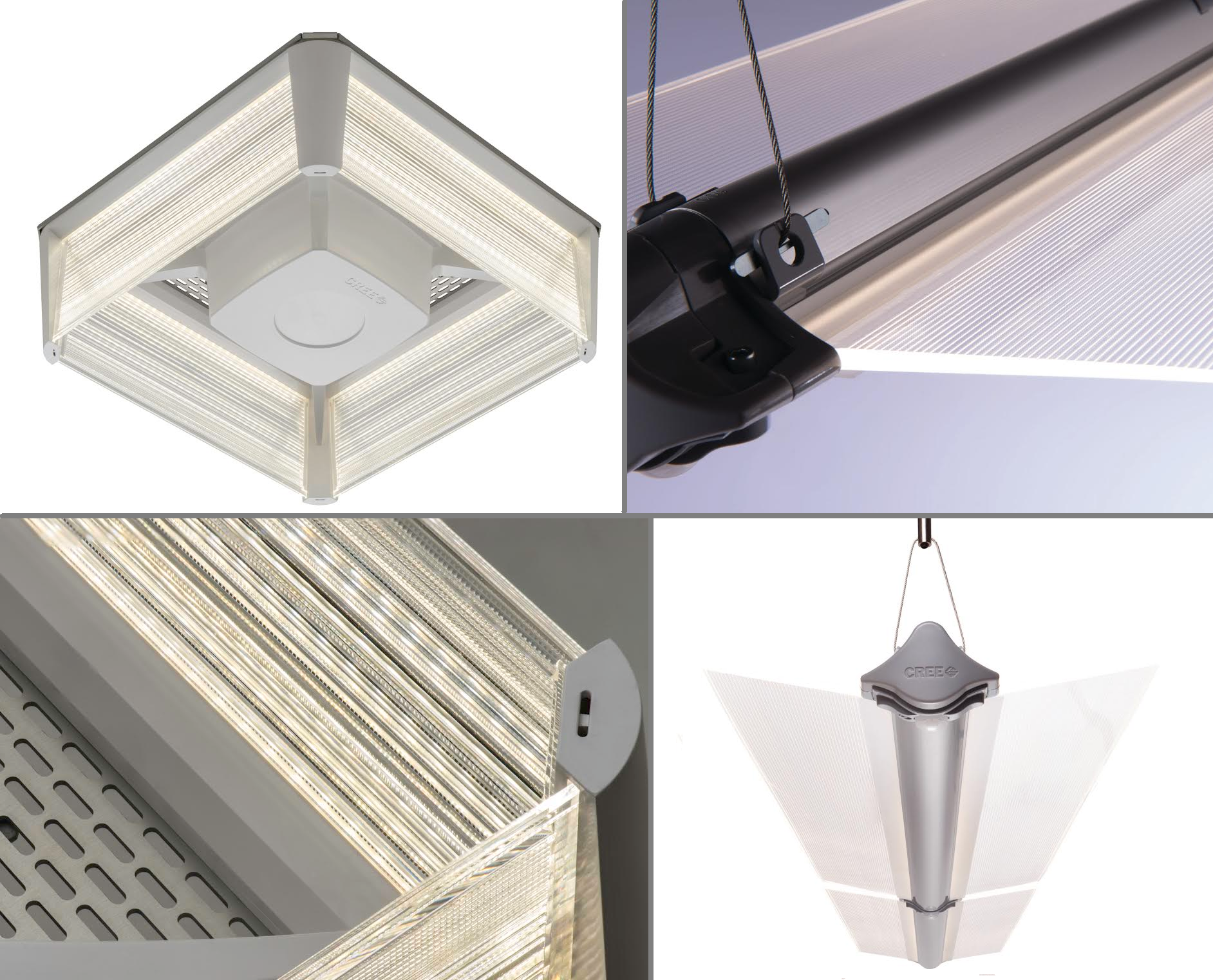 Luminaire Indirect intérieur suspended ambient luminaire simplifies installation and improves