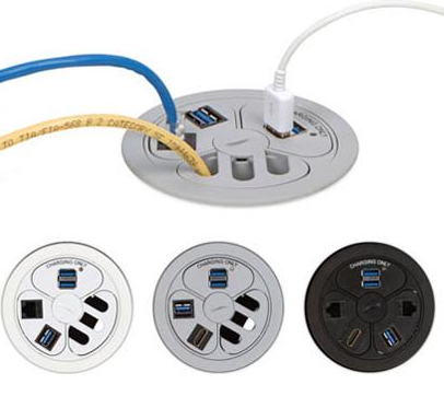 Power Grommet Features Dual Usb Charger Keystone Jack And