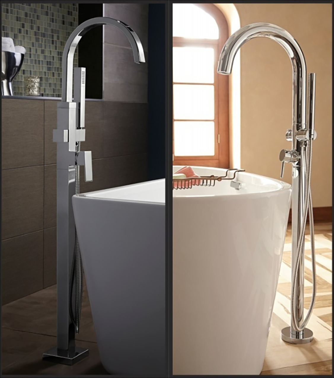 Floor-mounted Tub Fillers Provide Water-saving, Drip-free Operation ...