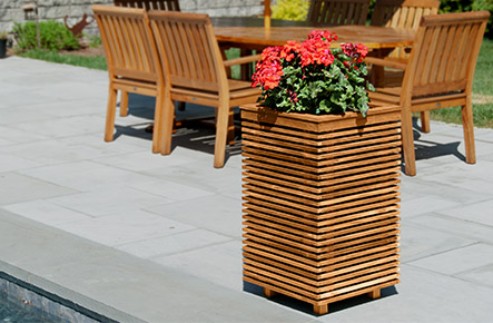 Outdoor Planter Speakers Planter speakers may be used with live plants indoors or out retrofit planterspeakers has introduced the piermont series using its flagstone speaker configuration workwithnaturefo