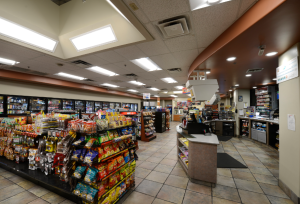 Inside the stores, 12-watt CR6 Downlights were used to replace 32-watt CFL fixtures, and the ZR Series Troffers replaced three-lamp fluorescent T8 fixtures. ZR24 luminaires provide 90+ CRI to make merchandise colors and brands pop at 4,000 Kelvin.