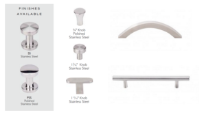Top Knobs expands its SS304 Stainless Steel Collection with a new Polished Stainless Steel finish and 12 contemporary pull, curved pull and novelty knob shapes.