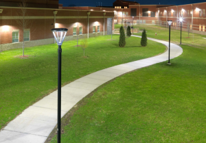 """Although we used existing poles, the Cree fixture matched up really well. It doesn't look like a retrofit—the lights look like they were meant to be engineered that way."" —Rhys Petee, owner and sales manager, Peak Electric Inc."