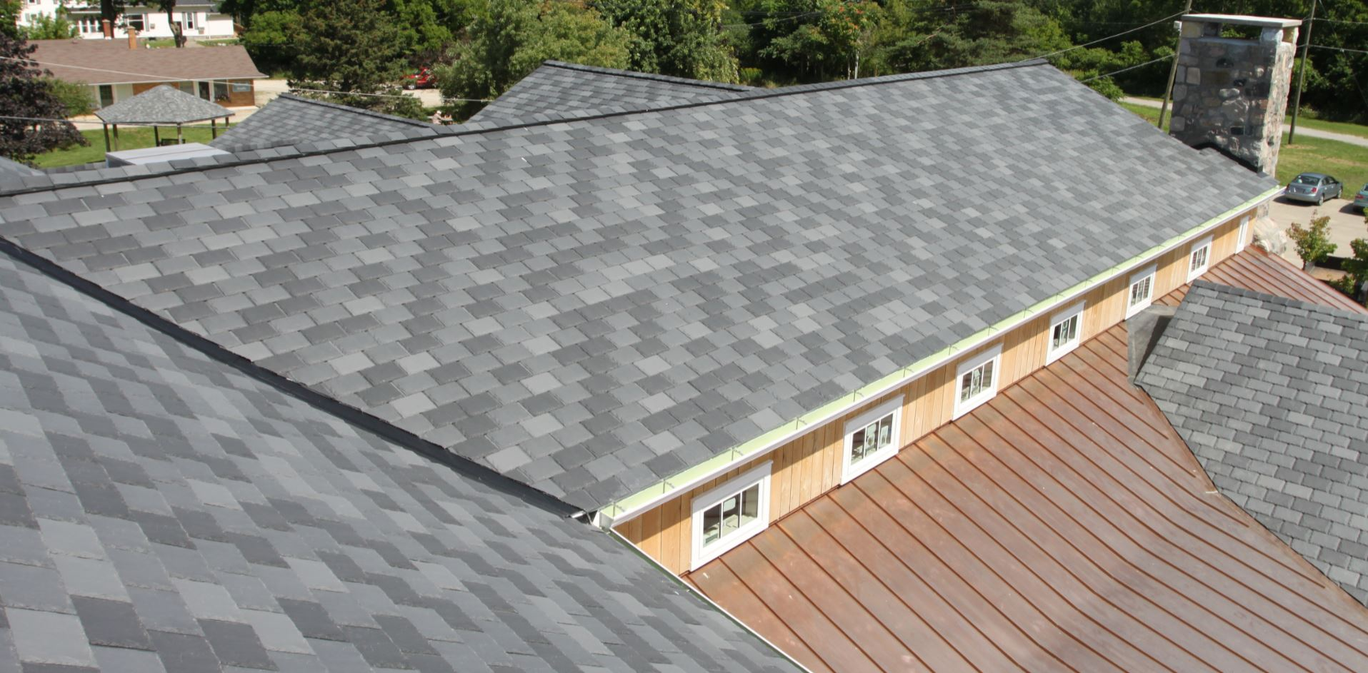 Fiberglass Slate Roof : Composite slate roofing achieves historic look for rehab