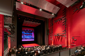 The new theater has 285 seats, some of which are removable so the non-profit American Conservatory Theater can put in tables for more reception-style seating.