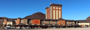The renovation of the Hoover Dam Lodge and Casino includes a new synthetic cedar shake roof.