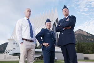 The Air Force Academy will look into upgrading single-pane windows after the Navy visited its campus.