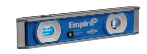Empire's UltraView LED Torpedo Level is equipped with a patent-pending system that utilizes dual ultraviolet LED lights that surround each vial for visibility.