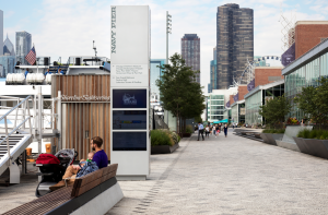 Nearly 30 percent of materials used at Navy Pier were made from recycled content.