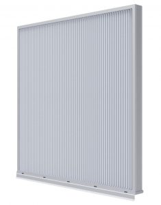 The stationary louver from Ruskin is wind-driven rain-resistant  and has AMCA 540 impact resistance.