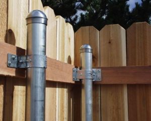 Bracket Attaches Wood Fence Rails To Metal Fence Posts