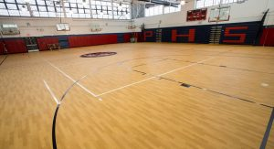 The Gillespie Group uses UZIN flooring for the Passaic High School gym flooring project.