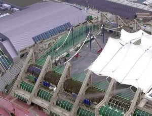 TrueLook cameras are used to show the progress of the roof replacement.