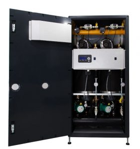 Boiler features single platform design retrofit Space heating options