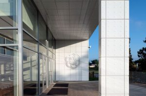 Dri-Design Embossed Panels bridge the original structure to the new addition at the Rock Hill Law Center.